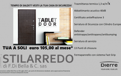 Tablet Door Dierre: massima sicurezza e grande eleganza da Stilarredo