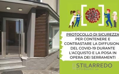 Protocollo di sicurezza per contenere e contrastare la diffusione del Covid-19 durante l'acquisto e la posa in opera dei serramenti
